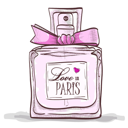parfume: Parfume love in paris. Paris  love design.