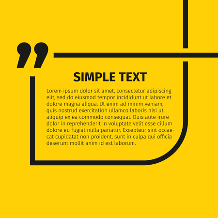 citing: Square quote text bubble, excellent vector illustration