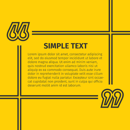 inverted: Square quote text bubble, excellent vector illustration, EPS 10 Illustration