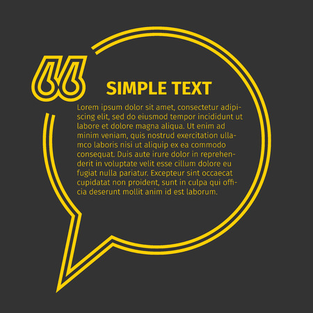 citing: Square quote text bubble, excellent vector illustration  Illustration