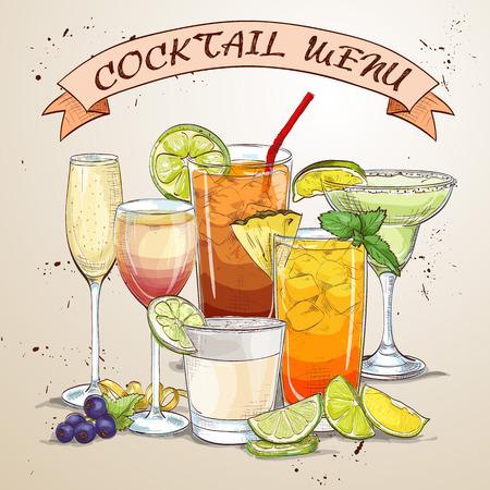 era: New Era Drinks Coctail menu, excellent vector illustration