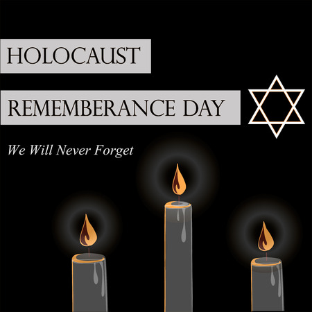 heroism: Holocaust Remembrance Day. Vector illustration for Jewish Yom Hashoah.