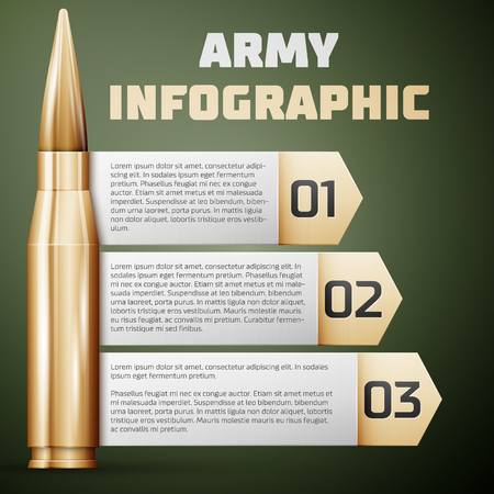 Army Infographic. Graphic template, Vector illustration.