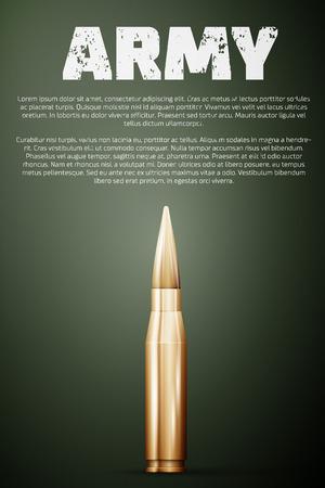 tanque de guerra: Cartel del ejército. plantilla de gráfico, la ilustración vectorial.