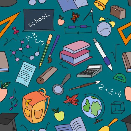 paper background: Doodle pattern of learning. Vector illustration, EPS 10 Illustration