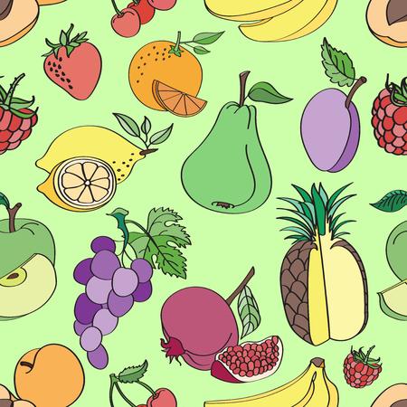 limon caricatura: fruta patr�n del Doodle en colores de fondo. Ilustraci�n del vector, Vectores