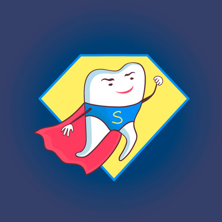 shedding: Dental icon Stomatology. Clean and bright designs. Illustration