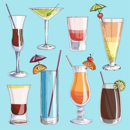 poolside: Doodle vector cocktails, excellent vector illustration, EPS 10