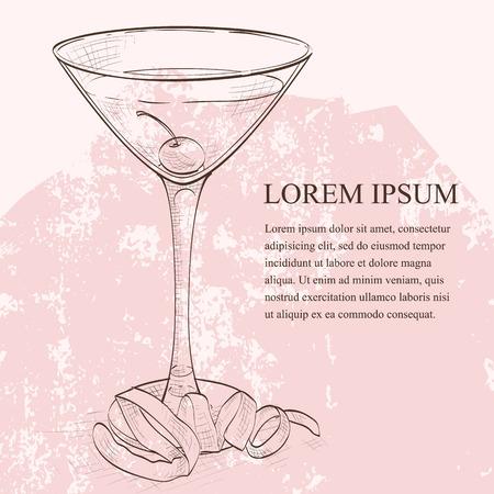 ajenjo: Tuxedo scetch cóctel, que consiste en Old Tom Gin, vermut seco, licor de marrasquino, ajenjo y amargos de naranja, adornado con una cereza marrasquino y un toque de limón