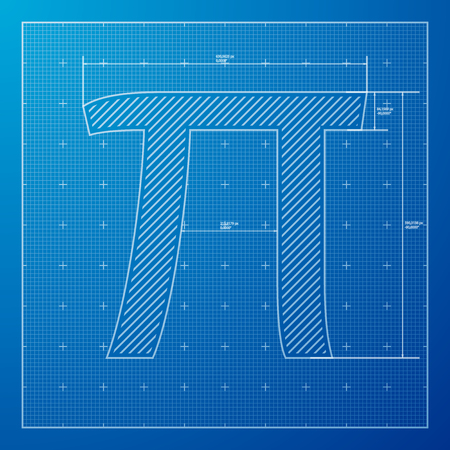 grid background: Pi day poster,Blue Graph grid paper background