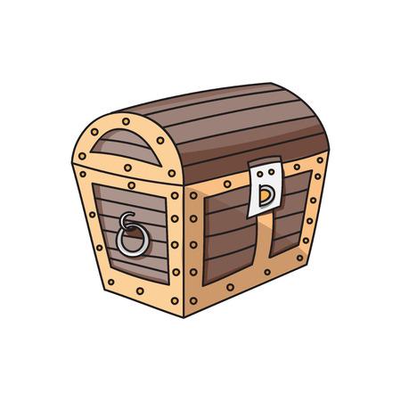 chest: wooden box, wooden chest, treasure chest, treasure chest