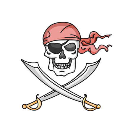 roger: Jolly roger icon vector illustration, EPS 10