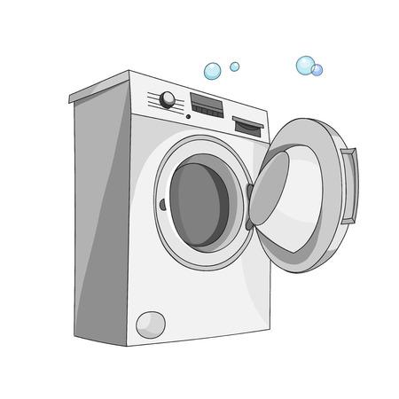 washer: A washing machine isolated on white background. Washer