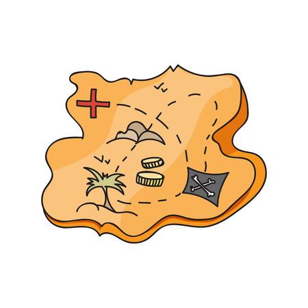 isla del tesoro: mapa de la isla del tesoro - mapa del tesoro, mapa antiguo, mapa viejo, mapa viejo del pirata, la ilustraci�n de los viejos mapas para encontrar el tesoro, se desvaneci� viejo mapa, mapa del tesoro que muestra la isla con la costa y la estrella de la br�jula