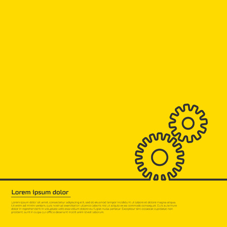 tooling: gears infographic template. For web and mobile applications, illustration template design, creative business infographic.