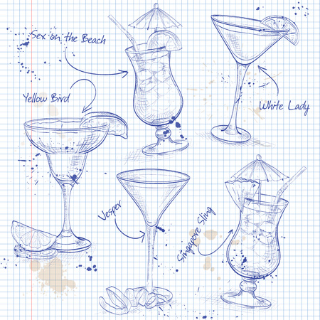 daiquiri: New Era Cocktail Set  on a notebook page.