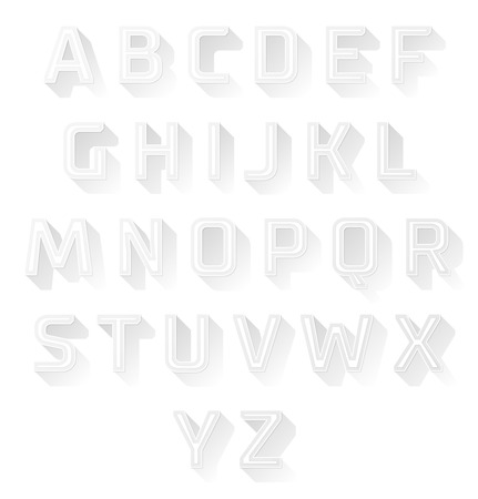 shadow effect: alphabet font with flat long shadow effect.