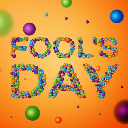 April Fools Day background, calendar date April 1.