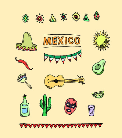 taco: Hand drawn vector set