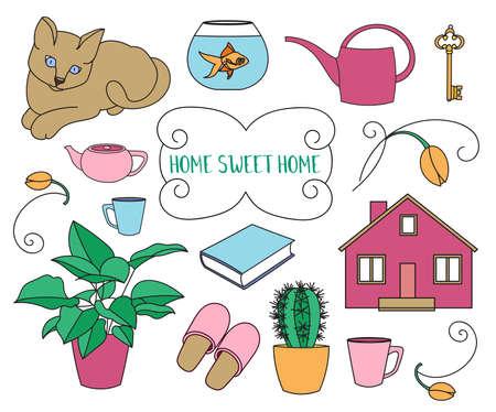 home design: Home Sweet Home set of design elements