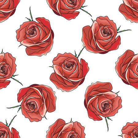 red rose: pattern of red rose