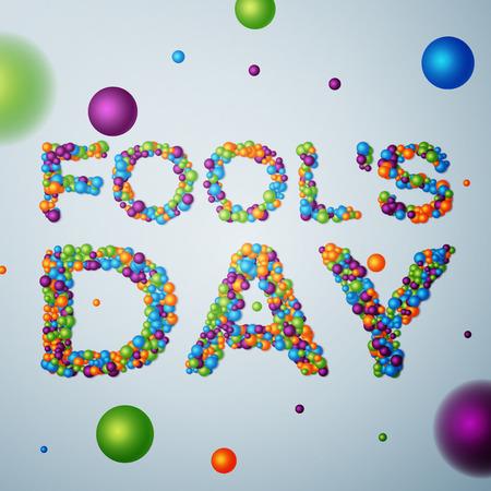 april: April Fools Day background, calendar date April 1. Vector illustration, EPS 10 Illustration