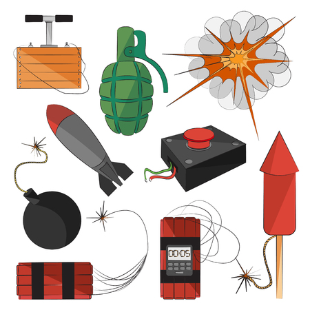 explosives: Set of bombs for your design. Explosives