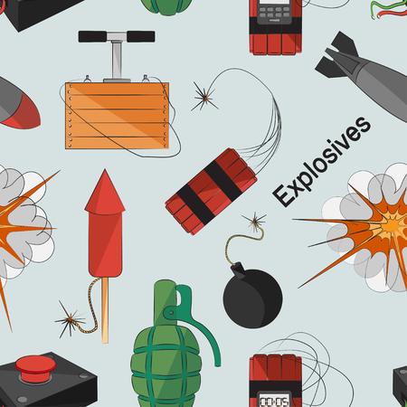 bombs: Set of bombs for your design. Explosives pattern Illustration