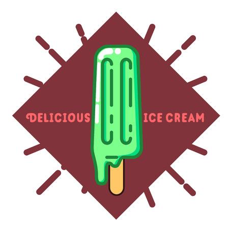 season: Color vintage summer season emblem.