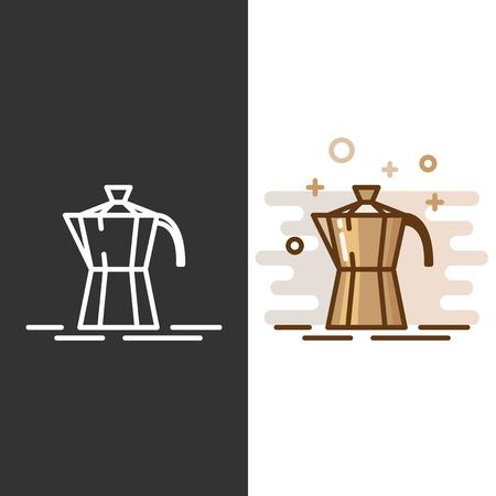 Geyser icona macchina per il caffè.