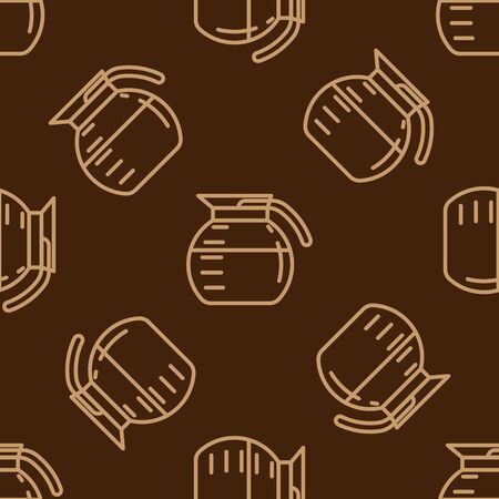 coffee pot: Coffee pot pattern. Doodle set of coffee pot. Vector illustration