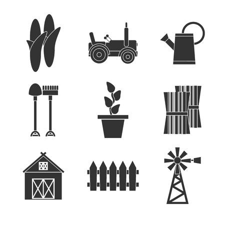 arable: Farming icons set. vector illustration