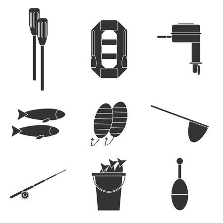 floater: Fishing icons set. Vector illustration Illustration