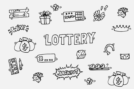 disclosure: Lottery icons set. Vector illustration