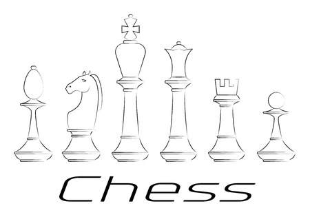 chess board: Chess board. Game. Icon set.