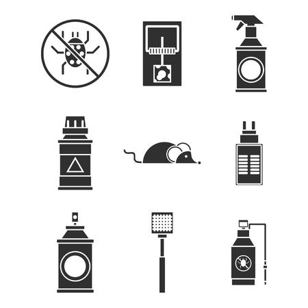 exterminator: Exterminator service icons set . Illustration