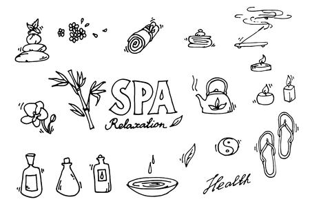 suppository: Spa icons set. Relax. Illustration