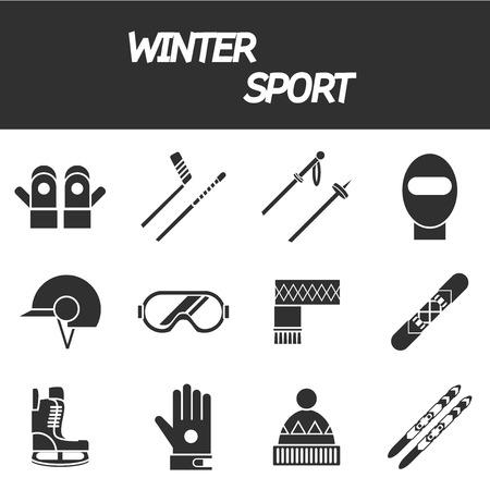 extreme sports: Winter sport icon set . Ski, sport, extreme sports, winter games, sport icons. Vector illustration EPS 10