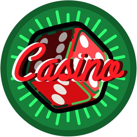 joker playing card: Color vintage casino emblem, excellent Vector illustration