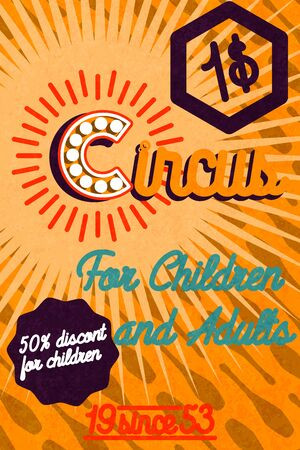 Netter Zirkuskartenentwurf. Circus Banner. Vektor-Illustration