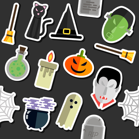 different concept: Illustration of collage for different concept of Halloween