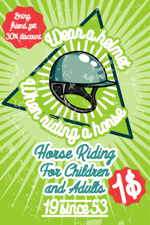 tourney: Horse riding banner. Good as a template of advertisement. Vector illustration Illustration
