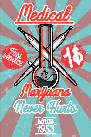 medical illustration: Medical marijuana banner. Vector illustration