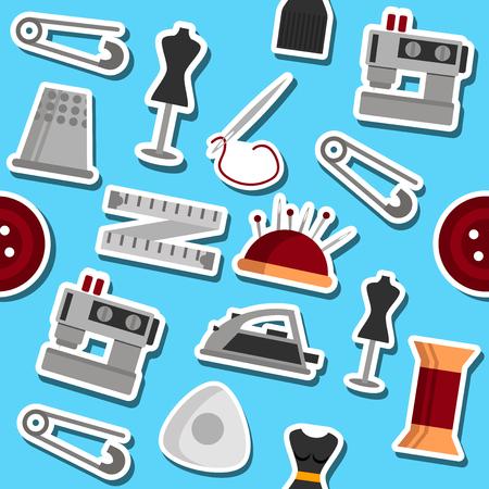 establishments: Sewing flat pattern. Vector illustration