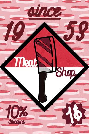charcutería: Carne bandera del almacén, charcutería, tienda de delicatessen, carnicería vector mercado insignia, etiqueta