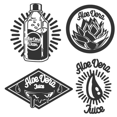 vera: Collection of aloe vera labels. Vintage emblems