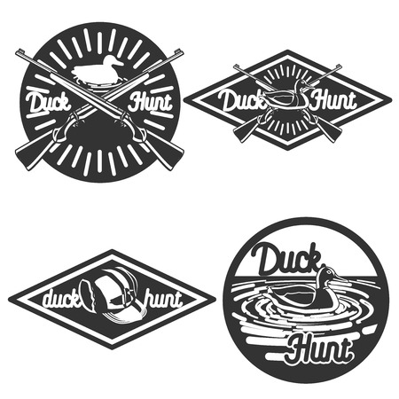 goose club: Set of vintage hunting labels and design elements
