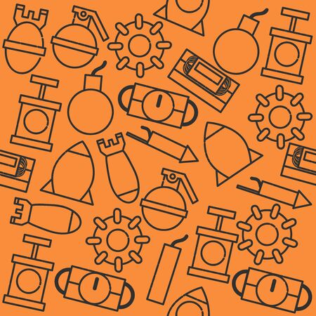 patron: Bomb icons pattern. Vector illustration EPS 10