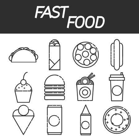 Fast food design icons set template elements for web and mobile fast food design icons set template elements for web and mobile applications stock vector maxwellsz