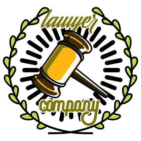 Color vintage lawyer emblem. Law office, Law firm.